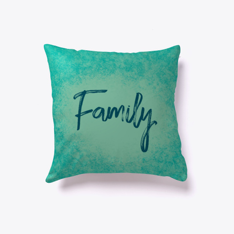 Family In Teal Watercolor Standard T-Shirt Back