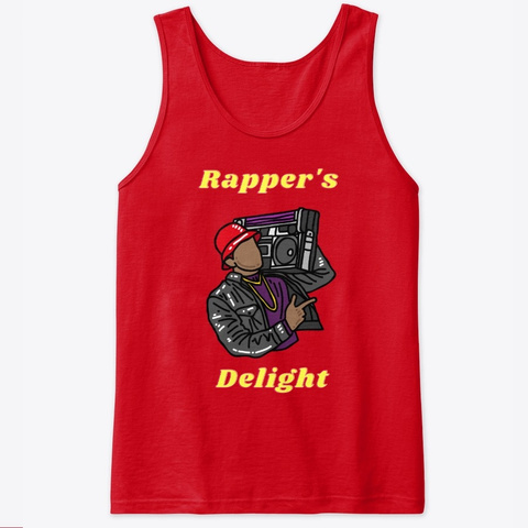Rapper's Delight Red T-Shirt Front