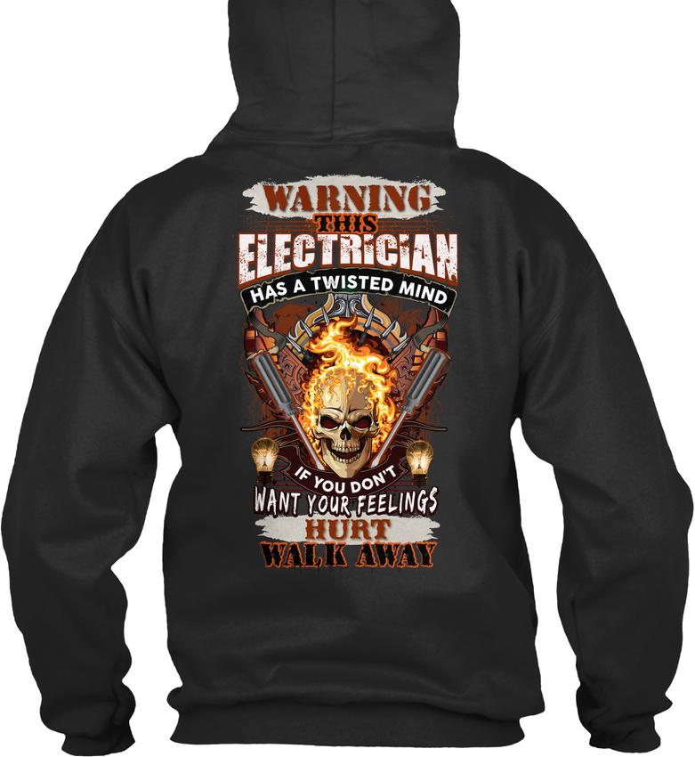 Comfy Sarcastique électricien-Attention Ce Ce électricien-Attention a un Twisted Standard College Sweat à capuche 86ed9f