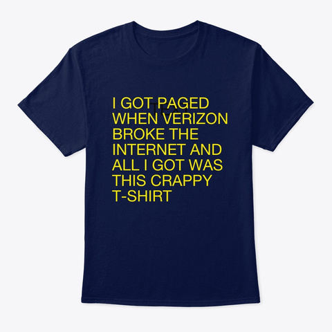 24 Jun 2019 Navy T-Shirt Front