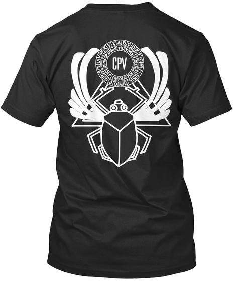 Abcdefghijklmnopqrstuvwxyz Cpv Black T-Shirt Back