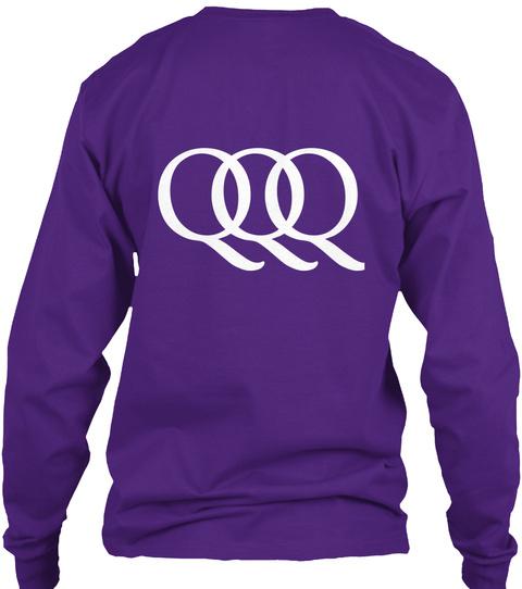 Qq Q Purple T-Shirt Back