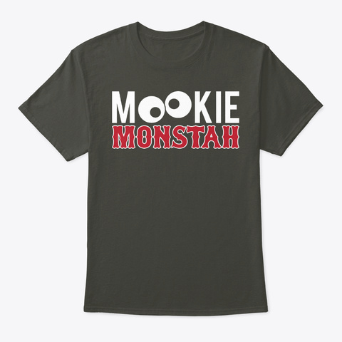 Mookie Boston Sports Fan Tee Smoke Gray T-Shirt Front