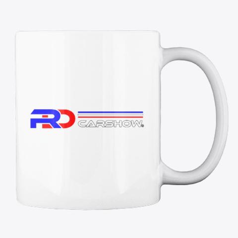 Rdcarshow Logo! White T-Shirt Back