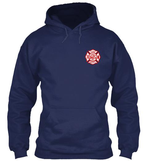 Fire Dept Navy Sweatshirt Front