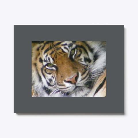 Tiger Print   Charity Poster Dark Grey T-Shirt Front
