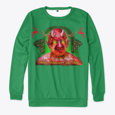 Merry Whomever Ugly Holiday Whatever Green T-Shirt Front
