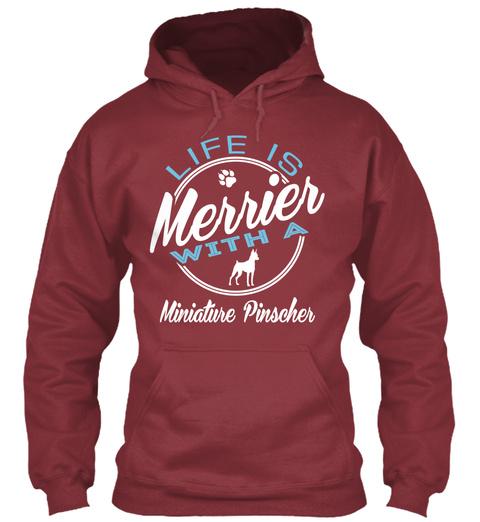 Miniature Pinscher Gift Shirt Maroon T-Shirt Front