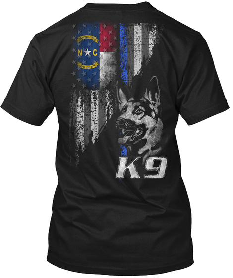 N C K9 Black T-Shirt Back