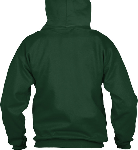 Beer And Bonfire Hoodie Forest Green T-Shirt Back