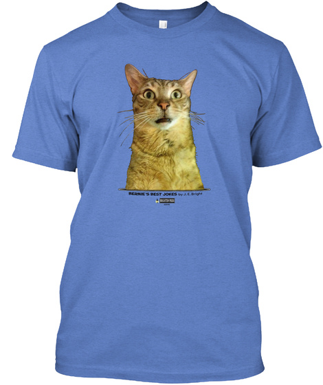 Bernies Best Jokes Heathered Royal  T-Shirt Front