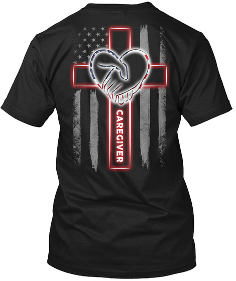 Caregiver Black T-Shirt Back