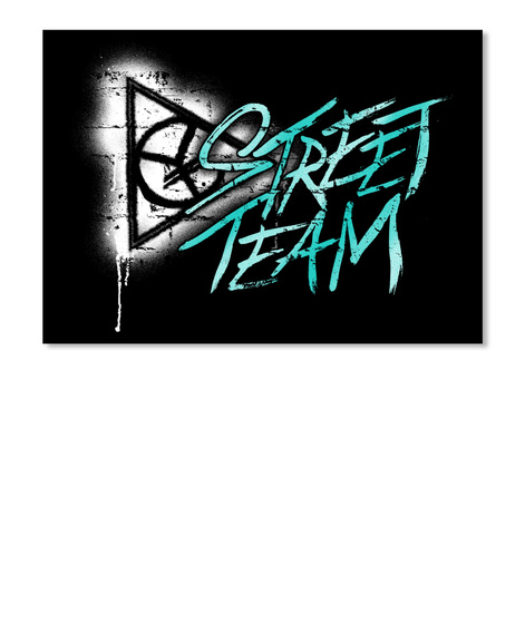 Street Team Stickers Black Sticker Front