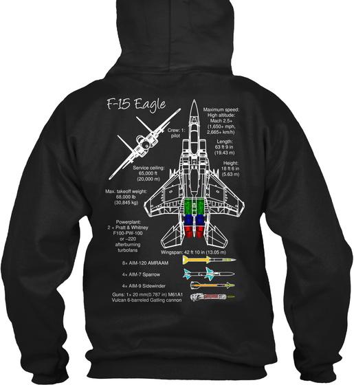 F 15 Eagle F15eagle Sweatshirt Back
