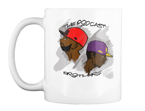 The Podcast Brothers White T-Shirt Front