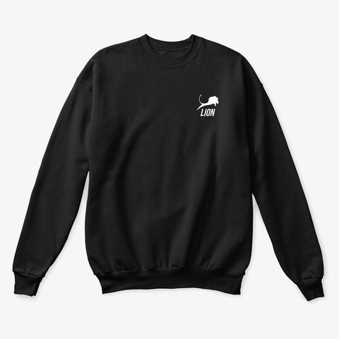 Lion Sweat Shirt Black Sweatshirt Front