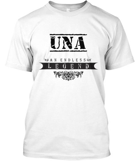 Una An Endless Legend White T-Shirt Front