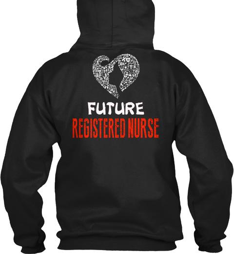 Rn   Nurse   Registered Nurse   152 Black T-Shirt Back