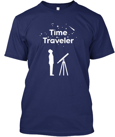 Time Traveler Midnight Navy T-Shirt Front