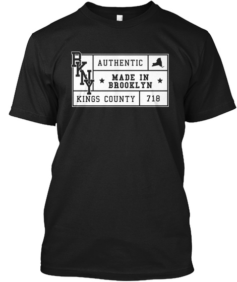 Made In Brooklyn Black T-Shirt Front