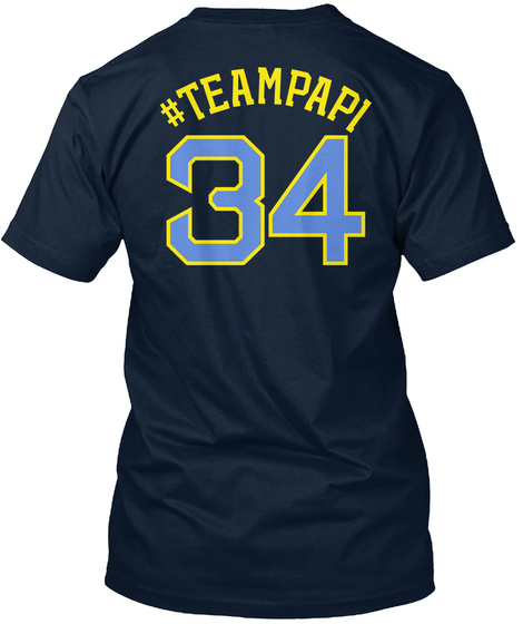 #Teampapi 34 New Navy T-Shirt Back