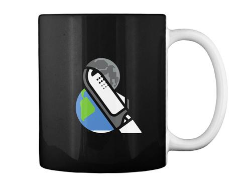 Earth And Moon Mug [Usa] #Sfsf Black Mug Back