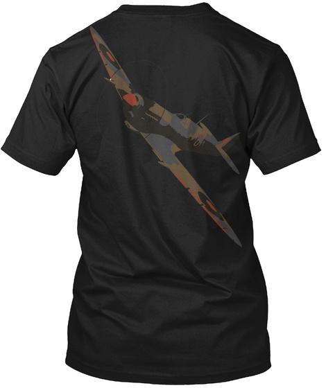 Spitfire Viii Black T-Shirt Back