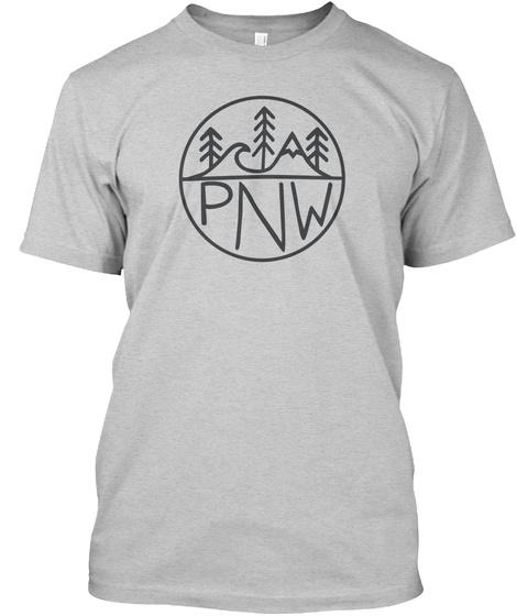 Pnw Light Steel T-Shirt Front