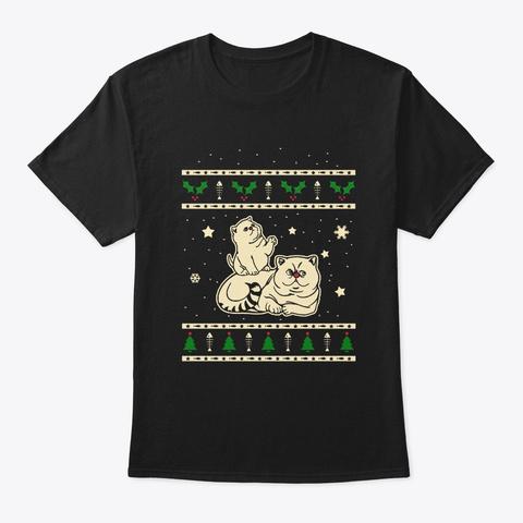 Christmas Exotic Shorthair Gift Black T-Shirt Front
