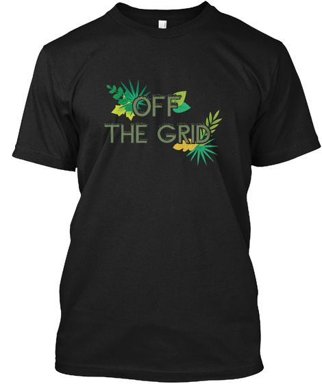 Off The Grid Black T-Shirt Front