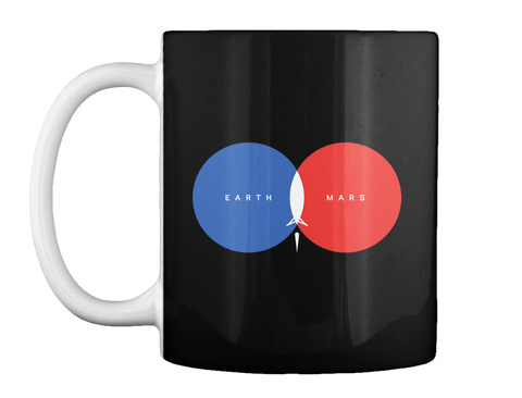 From Earth To Mars Mug [Int] #Sfsf Black Mug Front