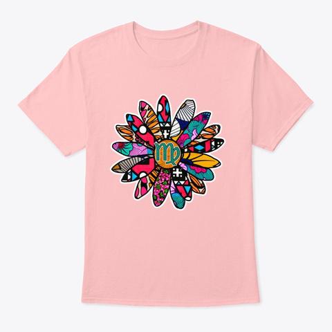 Spunky & Fun Virgo Flower Pale Pink T-Shirt Front