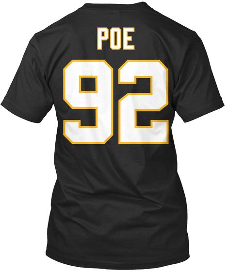 Poe 92 Black T-Shirt Back