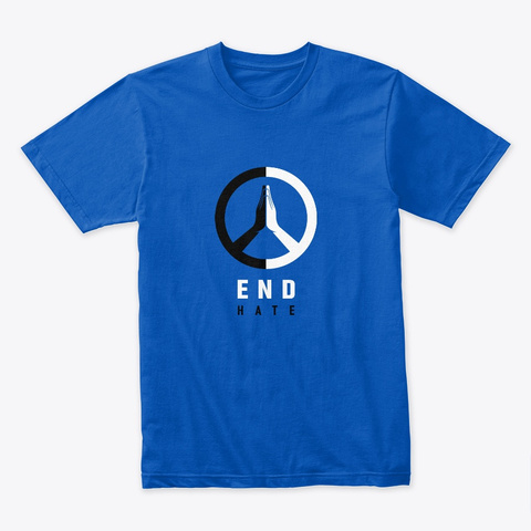 End Hate: M/W Options Royal T-Shirt Front