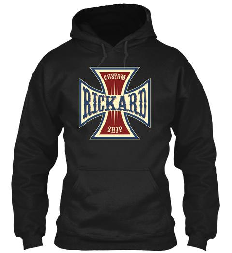 Rickard Custom Shop Black T-Shirt Front