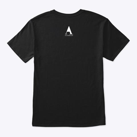 No A Holes™ Lower Case On Dark Merch Black T-Shirt Back