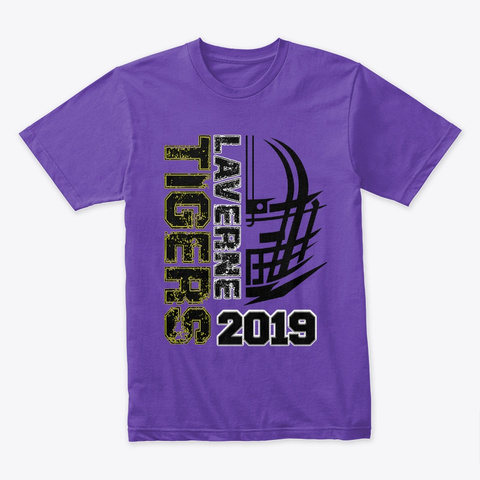 Laverne Tigers   In Your Face Purple Rush T-Shirt Front