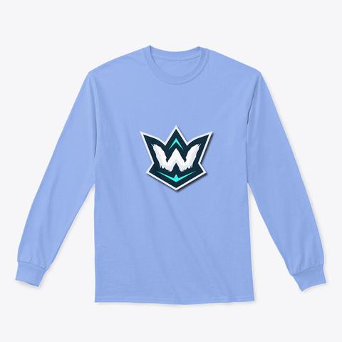 Gildan 6.1oz Long Sleeve Tee Light Blue T-Shirt Front