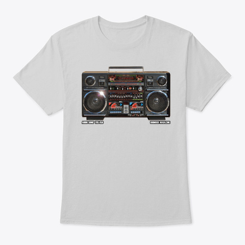 Boombox Magazine   Audio Sonic Tbs 1150 Light Steel T-Shirt Front