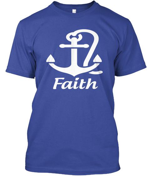 Faith Deep Royal T-Shirt Front