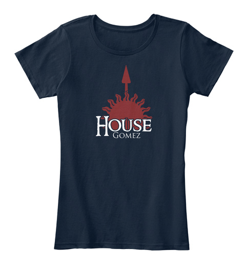 Gomez Family House   Sun New Navy T-Shirt Front