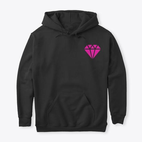 Pink K Pop Academy  Black T-Shirt Front