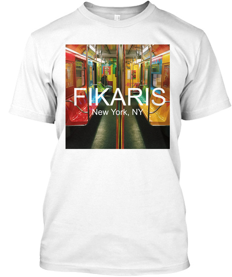 Fikaris New York, Ny White T-Shirt Front