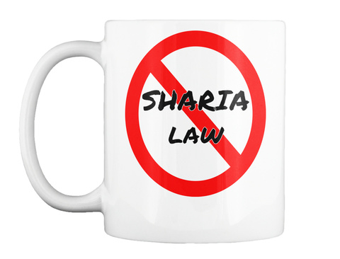 Sharia Law White T-Shirt Front
