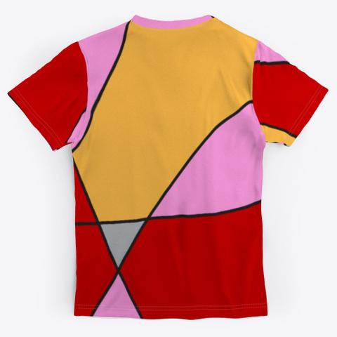 Abstract Minimal Art Comic Style Standard T-Shirt Back