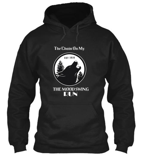 Black Wolf Black T-Shirt Front