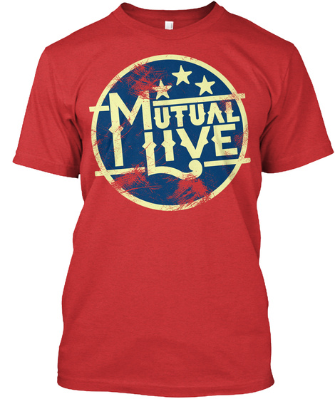 Premium Mutual Live Tee Red T-Shirt Front