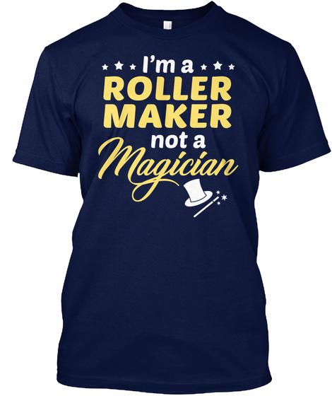 Roller Maker   Not Magician Navy T-Shirt Front