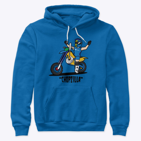 Chopzilla Hoodie True Royal Sweatshirt Front