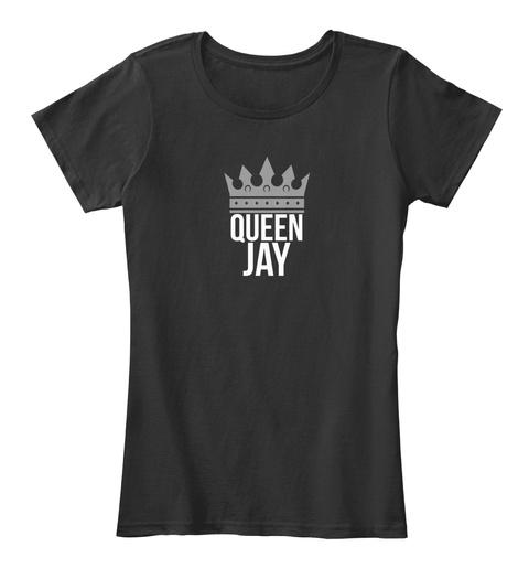 Jay Queen Black T-Shirt Front